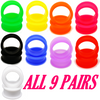 9 pairs total -silicone ear plugs 18 pieces