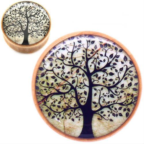 tree of life double saddle ear plug gauges