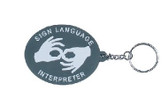 Sign Language Interpreter Keychain Soft  Rubber
