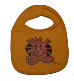 Baby Bib Tiger with Sign I LOVE YOU (Orange)