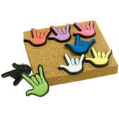 Push Pins sign hand I LOVE YOU Set