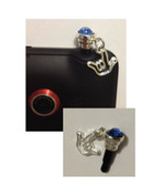 Rhinestone Cell Phone Charms with Tiny Outline I LOVE YOU Hand (BLUE) OUT OF STOCK