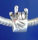 Pandora Bead Sign Hand ( I LOVE YOU) Sterling Silver