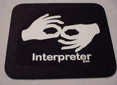 Interpreter Mouse Pad Black (White Print) LARGE