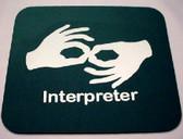 Interpreter Mouse Pad Hunter Green (White Print) LARGE