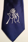 Men Tie with Sign Jesus hands (Royal),