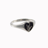 I LOVE YOU HEART RING Sterling SIlver