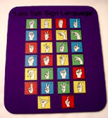 A to Z Mouse Pad ( Purple)