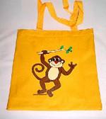 Monkey Tote Bag (Yellow)
