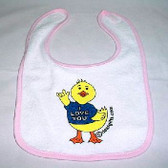 Deaf Duckies Baby Bib -Pink