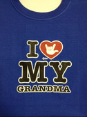 "I heart with Sign "" I LOVE YOU ""My GrandMa (YOUTH SIZE)"