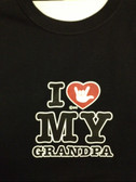 I heart with ILY my GrandPa (Youth) Choose color Shirt