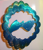 "Suncatchers Wind Illusions FRIEND Large 12"" (BLUE/GREEN)"