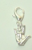 Charm I LOVE YOU with Clasps (Silver)
