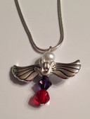 Angel Wing with I LOVE YOU and Choose Birthstone