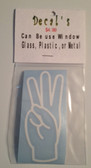 Decal Sticker Sign Language (W) White or Special Color