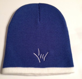 Knit Skull Cap Royal w/ White Strip ( DRAW I LOVE YOU HAND)