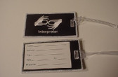 Luggage Tag with Interpreter (Black and White Merrow) Embroidery