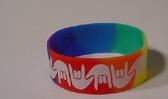 I LOVE YOU Awareness Bracelet Silicone (RAINBOW) WIDE