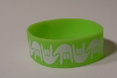 I LOVE YOU Awareness Bracelet Silicone (LIME) WIDE