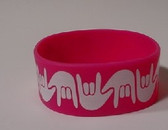 I LOVE YOU Awareness Bracelet Silicone (HOT PINK) WIDE
