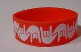 I LOVE YOU Awareness Bracelet Silicone (RED) WIDE