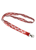 ILY Lanyard with Keyring: Red w/White Imprint