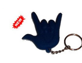 2-D I LOVE YOU Keychain Soft PVC (Blue) DeafGifts Exclusive!