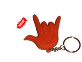 2-D I LOVE YOU Keychain Soft PVC (Orange) DeafGifts Exclusive!