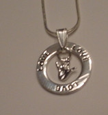 """Circle Ring word say """"LOVE"""" with I LOVE YOU Silver Necklace 16 """" to 30"""""""