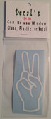 Decal Sticker Sign Language (V) White or Special Color