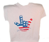 "USA SIGN "" I LOVE YOU "" HAND T-Shirt (YOUTH SIZE)"