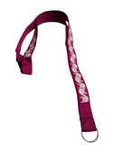 ILY Lanyard with  Keyring: Purple w/ White Imprint