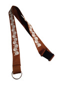 ILY Lanyard with Keyring: Brown w/ White Imprint