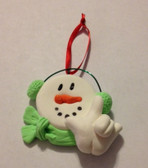 "Snowman (Lime ) Christmas Ornaments Sign hand "" I LOVE YOU ""  (very light weight )"
