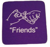 "Coaster Pad Sign Language "" Friends"" ( Purple)"