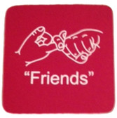 "Coaster Pad Sign Language "" Friends"" ( Red )"