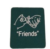 "Coaster Pad Sign Language "" Friends"" ( Green )"