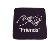 "Coaster Pad Sign Language "" Friends"" ( Black )"