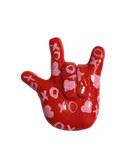 """RED SAY WORDS (OXOX)  """"I LOVE YOU"""" hand with Magnet"""