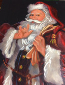 Santa Claus Picture with Sign Language I LOVE YOU.. Awesome !  ( 3 LEFT ! )