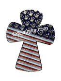 USA CROSS WITH SIGN HANDS I LOVE YOU PIN