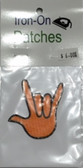 "Patches Sign Language Hand "" I LOVE YOU"" (ORANGE)"