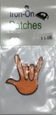 "Patches Sign Language Hand "" I LOVE YOU"" (ORANGE)"
