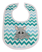 CAT BIBS  (HAND MADE BY DEBY) CHEVRON BLUE, LIGHT BLUE