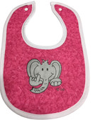 ELEPHANT BIBS (HAND MADE BY DEBY) PINK