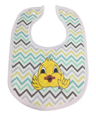DUCK BIBS (HAND MADE BY DEBY)YELLOW, GRAY, BROWN  CHEVRON