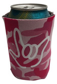 "KOOZIES FOAM CAN COOLER WITH SIGN LANGUAGE HAND OUTLINE "" I LOVE YOU"" (PINK CAMO)"