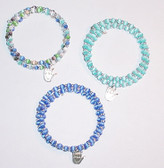 Bead Memory w/ I LOVE YOU Silver Bracelet