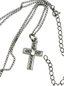 """CROSS WITH"""" I LOVE YOU """" SIGN HAND NECKLACE AND LEAF (GOLD OR SILVER ANTIQUE)"""